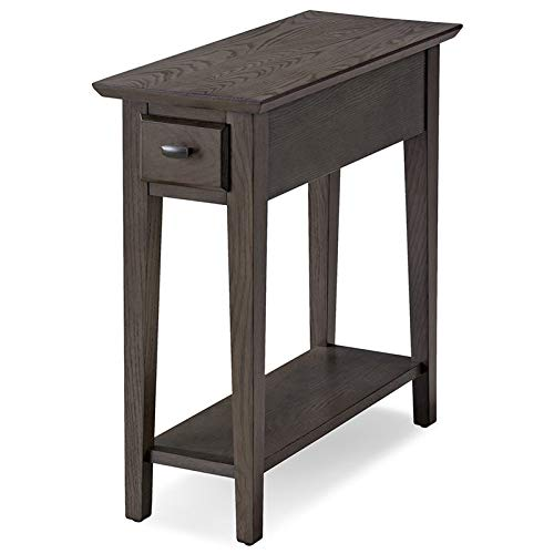 Leick Home Favorite Finds 1 Drawer End Table in Smoke Gray