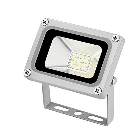 Missbee 10W Led Flood Light 110V Lanscape Flood Light, Outdoor Spotlight,Waterproof IP65,Cold White,6000-6500K, 1100lm, Super Bright Security Lights (Cold White)