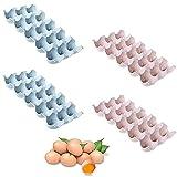 4 Piezas Caja Almacenamiento Huevos Apilable,Bandejas Plástico Huevos Cocina,Rejilla Huevos Refrigerador,Titular De Huevo,Puede Contener 60 Huevos, Apilable, Usado En Cocina, Refrigerador