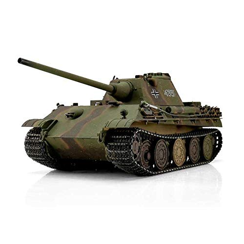 Torro 1:16 RC Panzer Panther F RTR 2,4Ghz Profi Metall BB Version mit Holzkiste