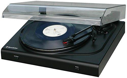 Roadstar TTL-830UEPC Halbautomatischer Plattenspieler mit USB-Encoding (Software, DC-EG Motor, Line-Out) schwarz