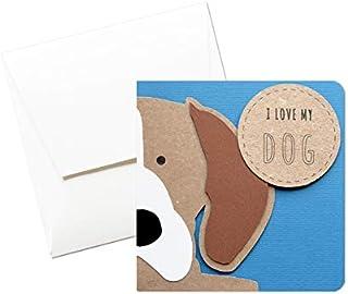 I love my dog - Beagle - biglietto d'auguri (formato 12 x 12 cm) - vuoto all'interno, ideale per il tuo messaggio personal...
