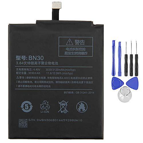 Ellenne Batería compatible con Xiaomi Redmi 4A Mi BN30 3120 mAh con kit de desmontaje incluido