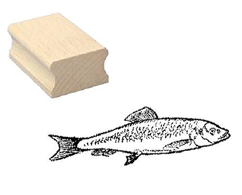 Stempel Holzstempel Motivstempel « HERING » Scrapbooking - Embossing Kinderstempel Tierstempel Angeln Angler Fischer fischen Butt