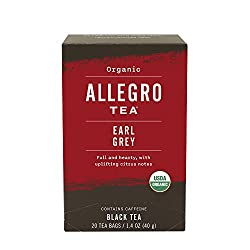 Allegro Tea, Organic Earl Grey Tea Bags, 20 ct