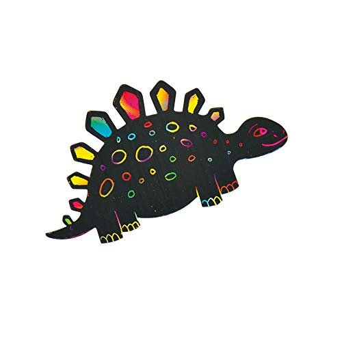 Dinosaur Scratch Art Magnets (Pack of 10)