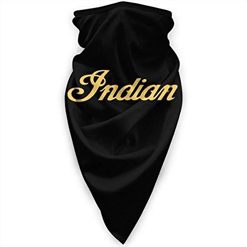 shenguang Motocicletas indio Logo Hombres Mujeres Deportes UV Máscara facial a prueba de viento bufanda escudo pasamontañas