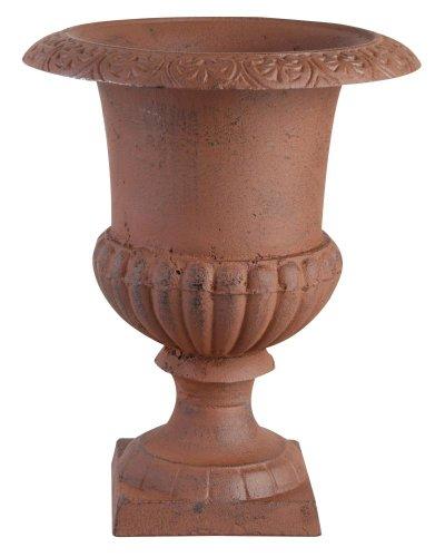 Esschert Design Blumentopf, Übertopf Französische Vase, Amphore auf Sockel, Größe M, ca. 23 cm x 23 cm x 30 cm