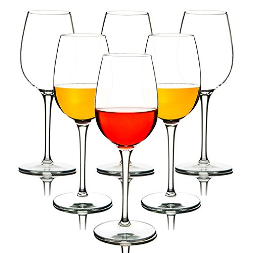MICHLEY Unbreakable Red Wine Glasses, 100% Tritan Plastic Shatterproof Wine Goblets, BPA-free, Dishwasher-safe 12.5 oz, Set of 6