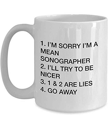 Meilleures idées de cadeaux pour l'échographiste Je suis désolé, je suis un méchant échographe Drôle Sarcasme Tasse à café tasse à thé