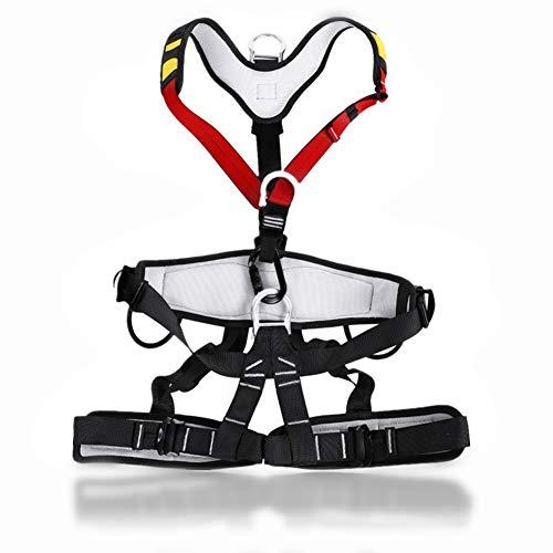 Klettergurt, Luftarbeit Klettergurt Sicherheitsgurt mit verstellbaren Sicherheitsgurten für Baumklettern, Bergsteigen, Feuerrettung