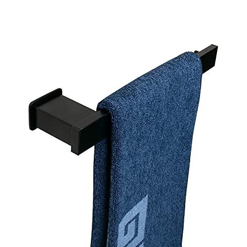 NearMoon Hand Towel Holder/Towel Ring - Bathroom Towel Bar, Premium Thicken Space Aluminum Towel Rack Wall Towel Hanger, Contemporary Style Bath Hardware Accessories Wall Mounted (Matte Black)
