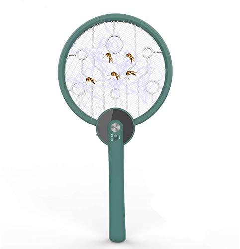 Ly Killer mosquitos eléctrico Swatter, 2 en 1 Raqueta matamoscas y encimera Zapper, encendido automático de la luz UV Atraer a Zap insectos voladores, insectos del mosquito de la mosca asesino USB