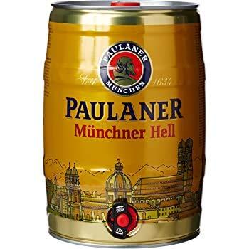 Birra Paulaner Münchener Hell - 2 Fustini da 5 Litri con Spillatore