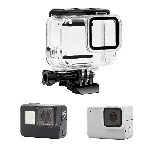 Yangers wasserdichte Schutzhülle Gehäuse Zubehör für GoPro Hero 7 Silver/White Modell Action-Kamera, Silikon-Unterwasserschutz-Käfigabdeckung