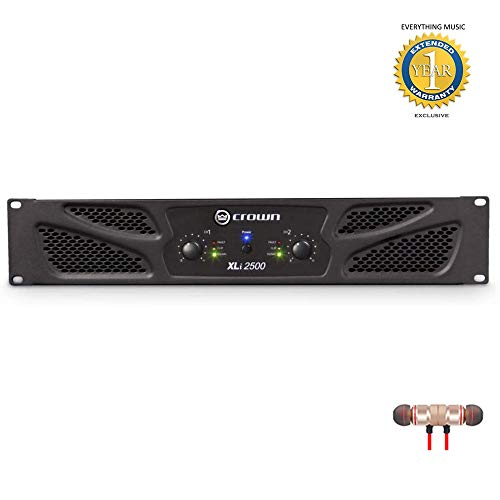 Learn More About Crown Power Amplifier (XLi2500) Includes Free Wireless Earbuds - Stereo Bluetooth I...