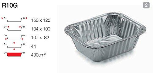 Contital vaschetta in alluminio 1 porzione 100 pz RG10G