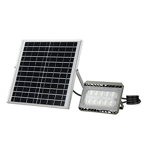 Solaire Projecteur LED,IP65 Sécurité Extérieure Étanche Lumière Accueil Télécommande Super Bright Spotlight (Couleur : Lumière chaude-30W)