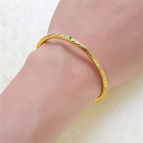 N/A Bracelet jewelry Gold Color Cuff Bangle Bracelet for Women Girls Valentine's Day present