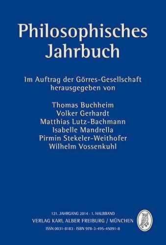 Philosophisches Jahrbuch: 121. Jahrgang 2014 - 1. Halbband