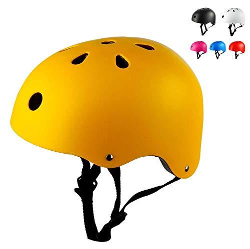 LHY Kinder/Kinderhelm, Einstellbarer städtische Skateboard Inline-Skating Schutzhelm Scooter Roller Skate Helm Junge Mädchen atmungsaktiv Fahrrad-Helme,Beige,S