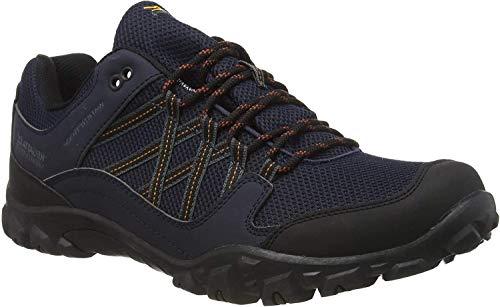 Regatta edgepoint III' Waterproof Walking Shoes, Zapatillas de Senderismo Hombre, Azul (Navy/Burnt Umbre Qfd), 47 EU
