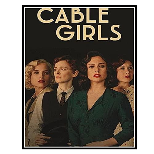 ZYHD Póster e impresiones de la serie de televisión de Cable Girls,...