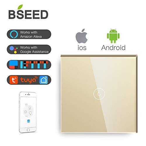 BSEED Interruptores luz pared Smart WiFi Touch Sensor