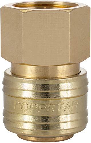 Poppstar Schnellkupplung Druckluft NW 7,2 mit 1/2 Zoll Innengewinde für Druckluft-Anschluss