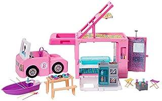 Barbie GHL93 , Kamper 3 W 1 Zestaw Do Zabawy Z Akcesoriami Ghl93