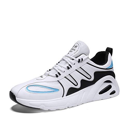 Hombres Para Mujer Zapatillas Para Mujer Entrenadores Deportes Ligeros Gimnasio Caminando Trotar Atlético Aptitud,Blanco,43