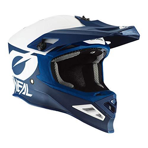 O'NEAL   Motocross-Helm   MX Enduro Motorrad   Airflaps™ kompatibel, Coolmax gepolstertes Innenfutter, Doppel-D-Sicherheitsverschluss   8SRS Helmet 2T   Erwachsene   Blau   Größe S