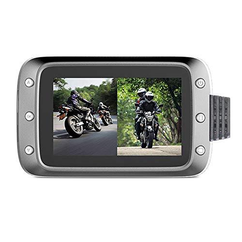 Cimoto Dash Camera Lente Delantera y Trasera Dashcam Full HD 1080P con Motocicleta GPS Driving Recorder DVR para CáMara de Motocicleta