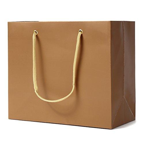 紙袋 大サイズ 手提げ袋 42cm×32cm×13cm 10枚 ゴールド トリノコ紙工