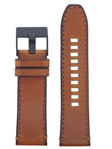Diesel Uhrband Wechselarmband LB-DZ4463 Ersatzband DZ4463 Uhrenarmband Leder 26 mm Braun