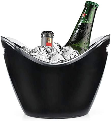 Yesland Ice Bucket 3 5 L Black Plastic Party Bottle Chiller 10 5 x 8 x 7 3 4 Inch Ice Beverage product image