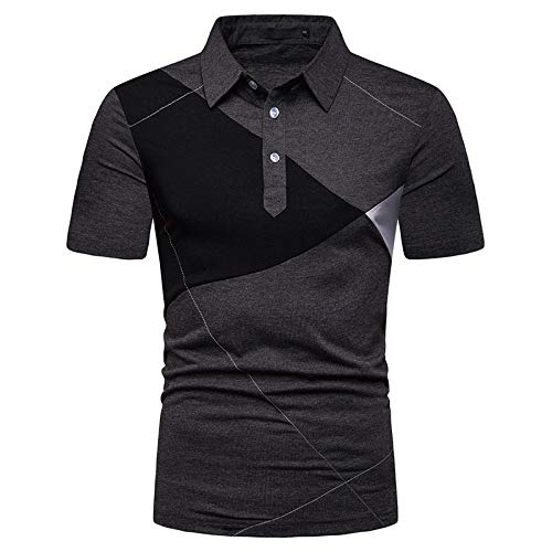 JPDD Men's Polo Shirt Leisure Shirt Short Sleeve Polo Slim Fit Fashion Daily Casual Sports Lapel Basic Boys New Summer Youth Men's Retro Slim Breathable Sports Lapel Short Sleeve Polo Shirt