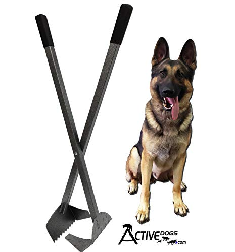Activedogs Best Ever Dog Poop Scooper - New Solid Bolt System - Powder Coated Teeth Style - All Aluminum Design Heavy Duty & Durable Waste Removal Shovel Scoop Tool - Built to Last - Made in The USA