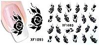 JMWJD デザイン水転送爪アートステッカーデカールレディ女性マニキュアツールネイルラップデカール卸売 (Color : XF1093)