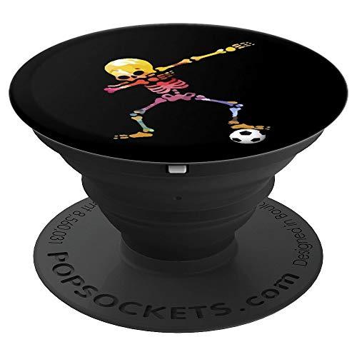 Dabbing buntes Skelett Fussballer Dab Fußball Fussball Team - PopSockets Ausziehbarer Sockel und Griff für Smartphones und Tablets