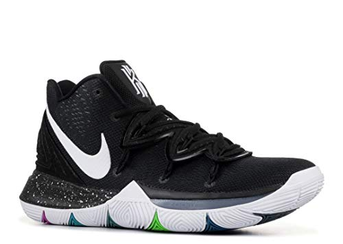 NIKE Men's Kyrie 5 Basketball Shoes (8.5, Black/Multi)