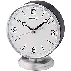 Seiko Hutton Clock, Black, Silver