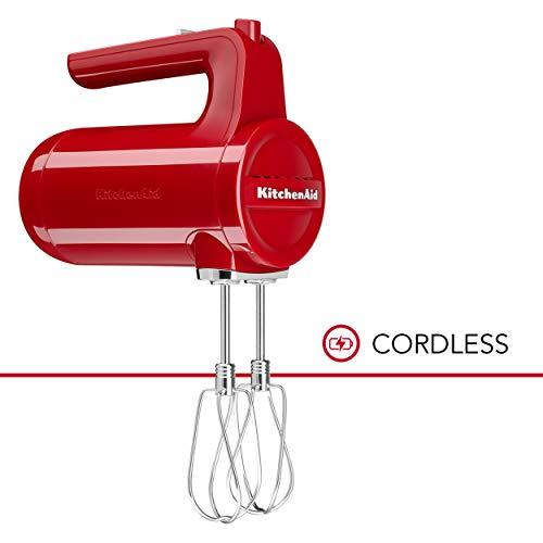 KitchenAid KHMB732ER Cordless Hand Mixer, 7 Speed,...