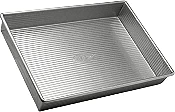 USA Pan Bakeware Rectangular Cake Pan 9 x 13 inch Nonstick & Quick Release Coating Made in the USA from Aluminized Steel