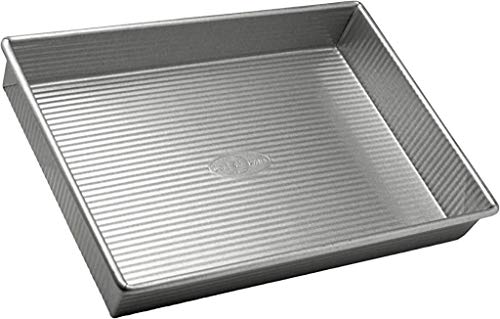 USA Pan Bakeware Rectangular Cake Pan, 9 x 13 inch, Nonstick & Quick Release Coating, Made in the USA from Aluminized Steel