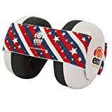Ems for Kids Baby Earmuffs - White with Stars n Stripes. Made in...