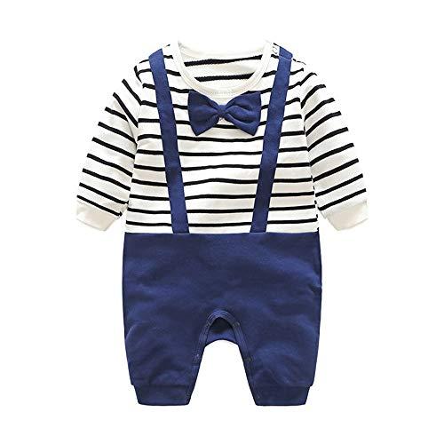 Minizone El traje de beb algodn Romper Boy manga larga pijama suave con Bowtie