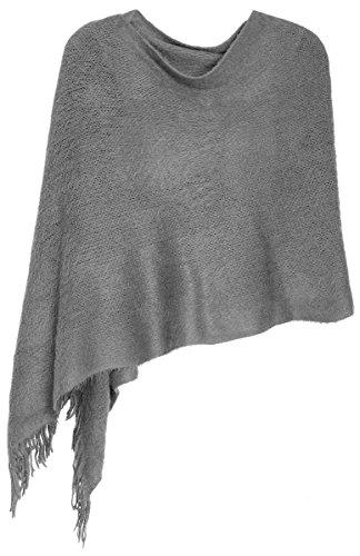 dy_mode Weicher Schal Stola Schultertuch für Damen - Elegant zu jeden Anlass - SP005 (SP005-Grau)