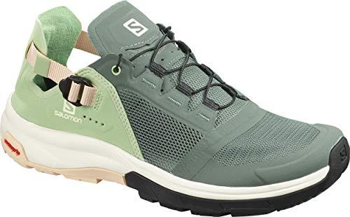 Salomon Damen Shoes Tech Amphib Laufschuhe, Grün (Balsamgrün/Spruce Green/Bellini), 40 2/3 EU