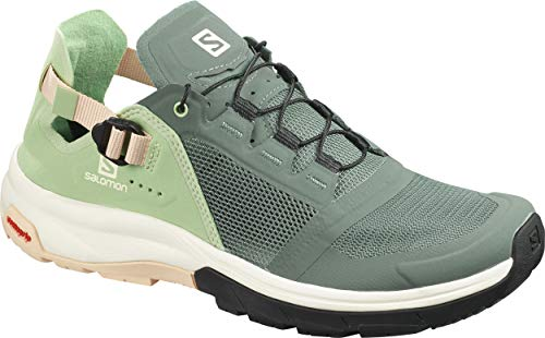 SALOMON Shoes Tech Amphib, Zapatillas de Running para Mujer, Verde (Balsam Green/Spruce Green/Bellini)